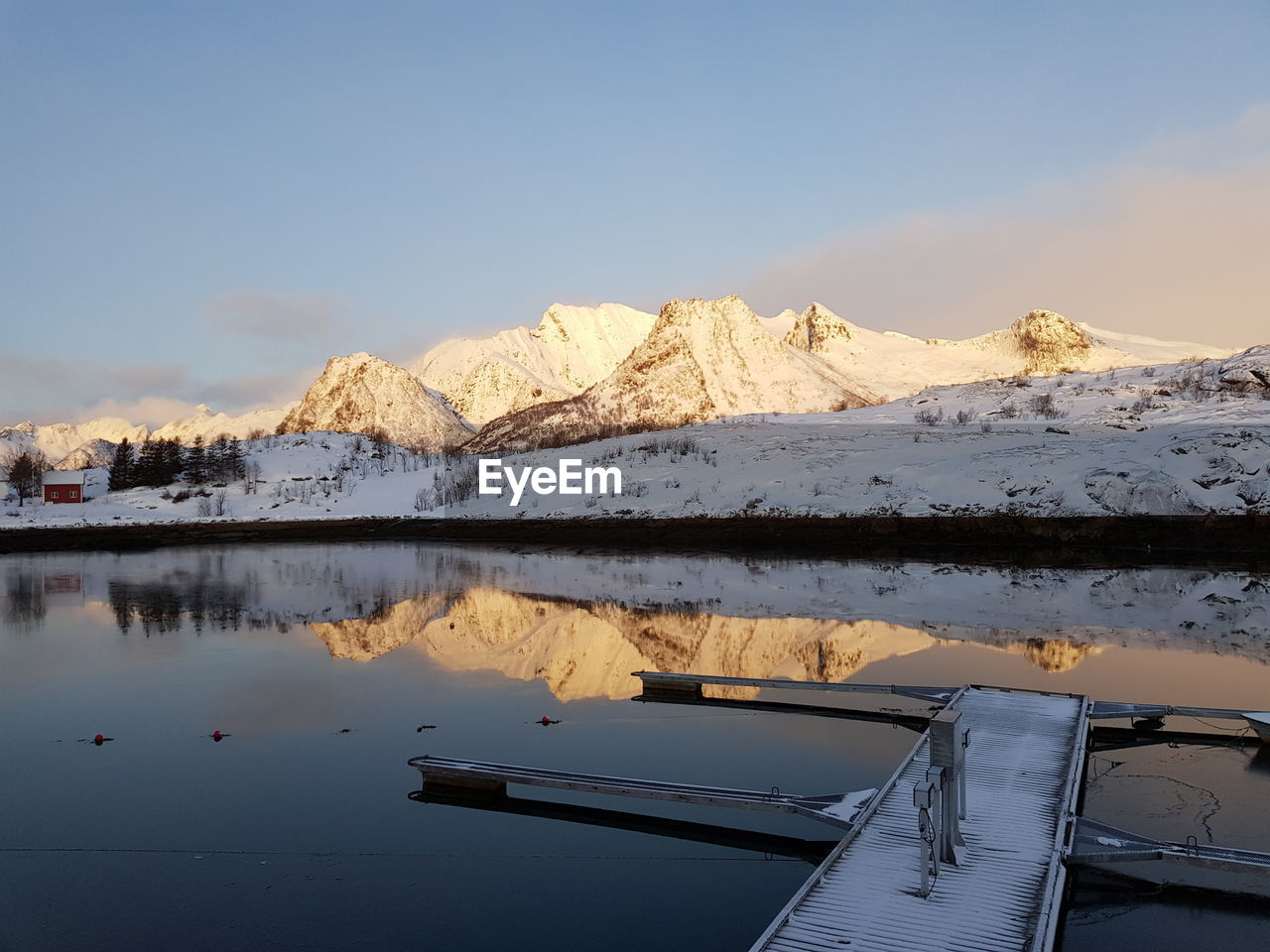 water, mountain, scenics - nature, sky, cold temperature, beauty in nature, lake, reflection, tranquil scene, tranquility, winter, mountain range, nature, snowcapped mountain, no people, snow, non-urban scene, nautical vessel, transportation, outdoors