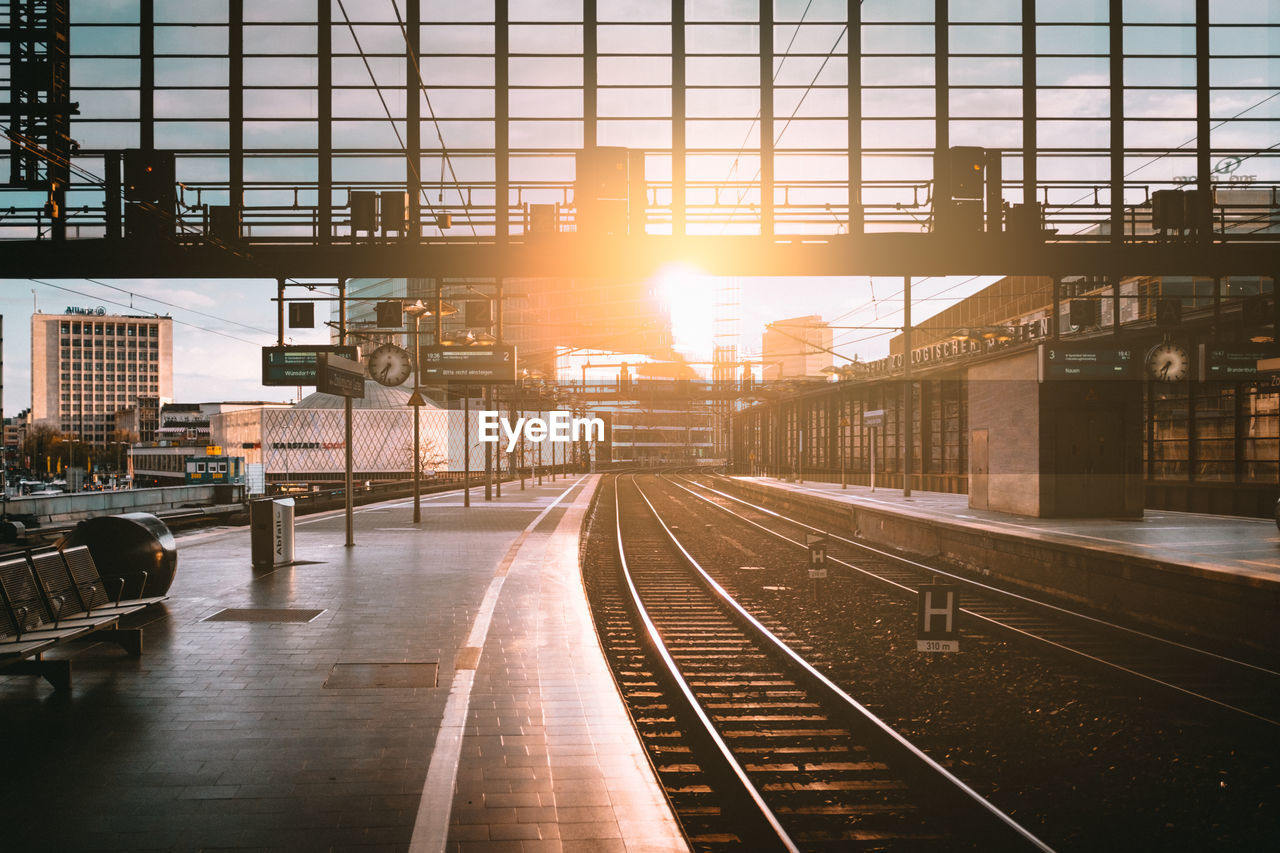 View Of An Empty Railway Station Platform