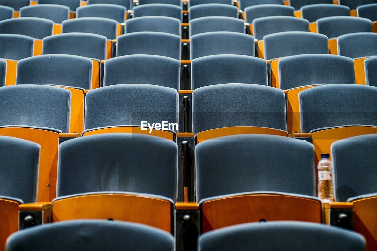 Empty Seats Arranged In Theater
