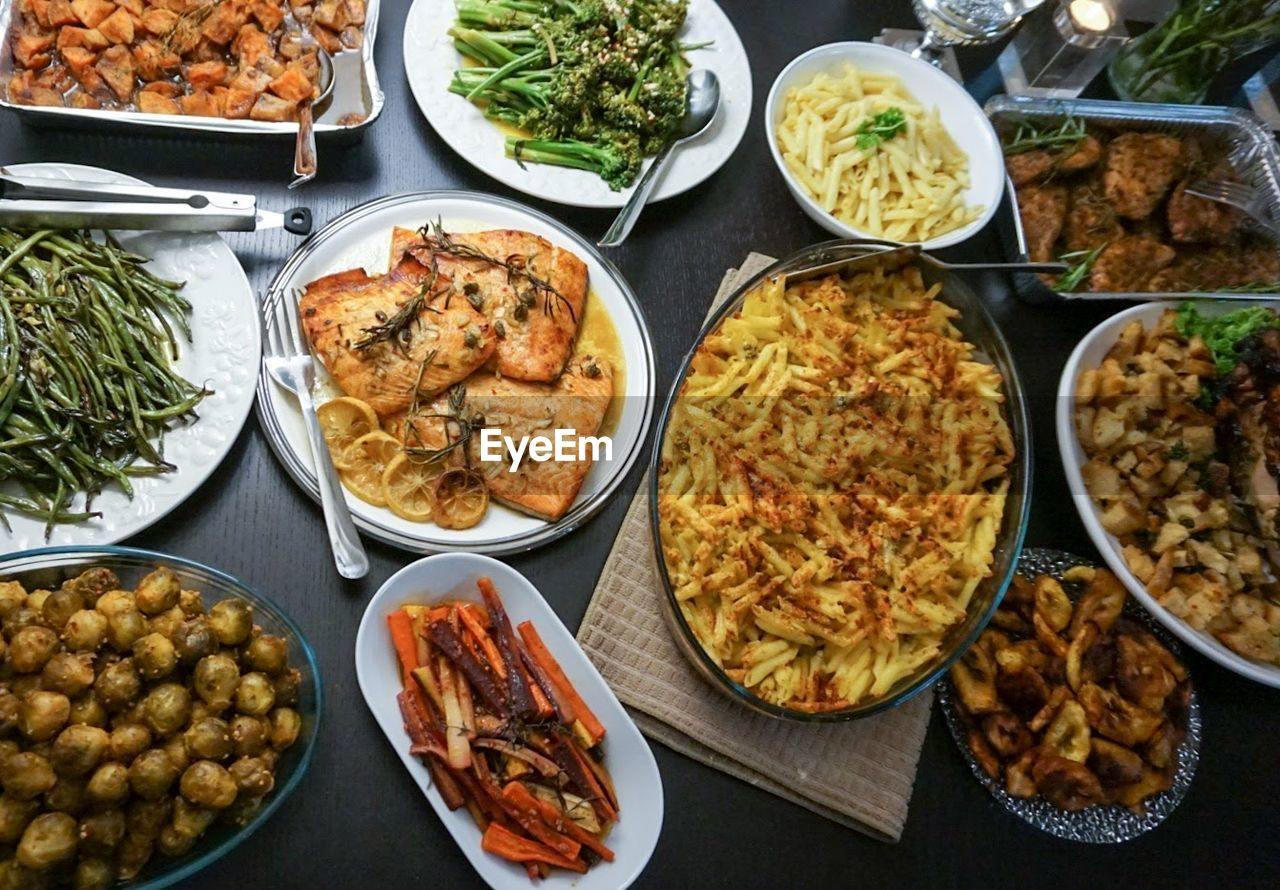 variation, food, food and drink, choice, plate, ready-to-eat, bowl, table, buffet, indoors, spring roll, no people, freshness, day