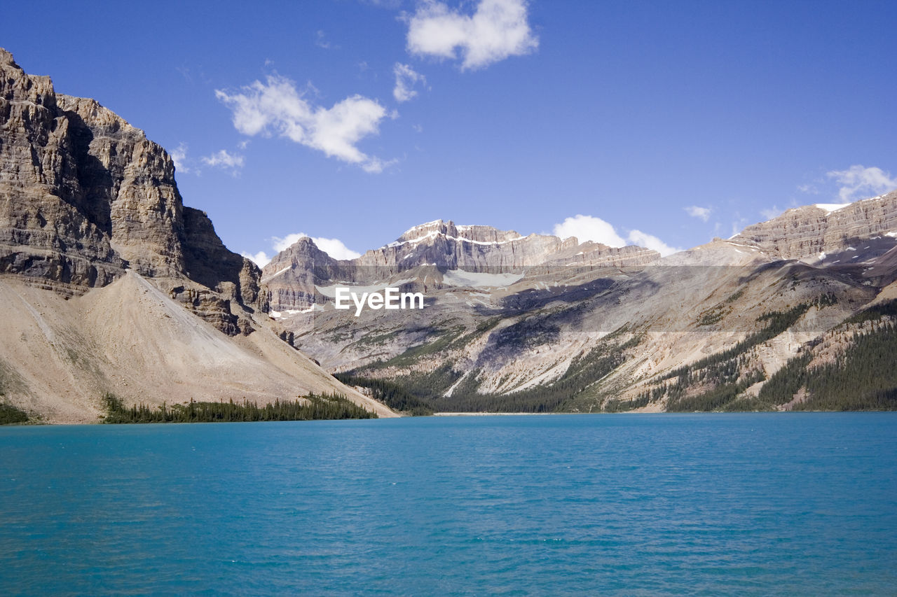 Scenic View Of Bow Lake Against Sky