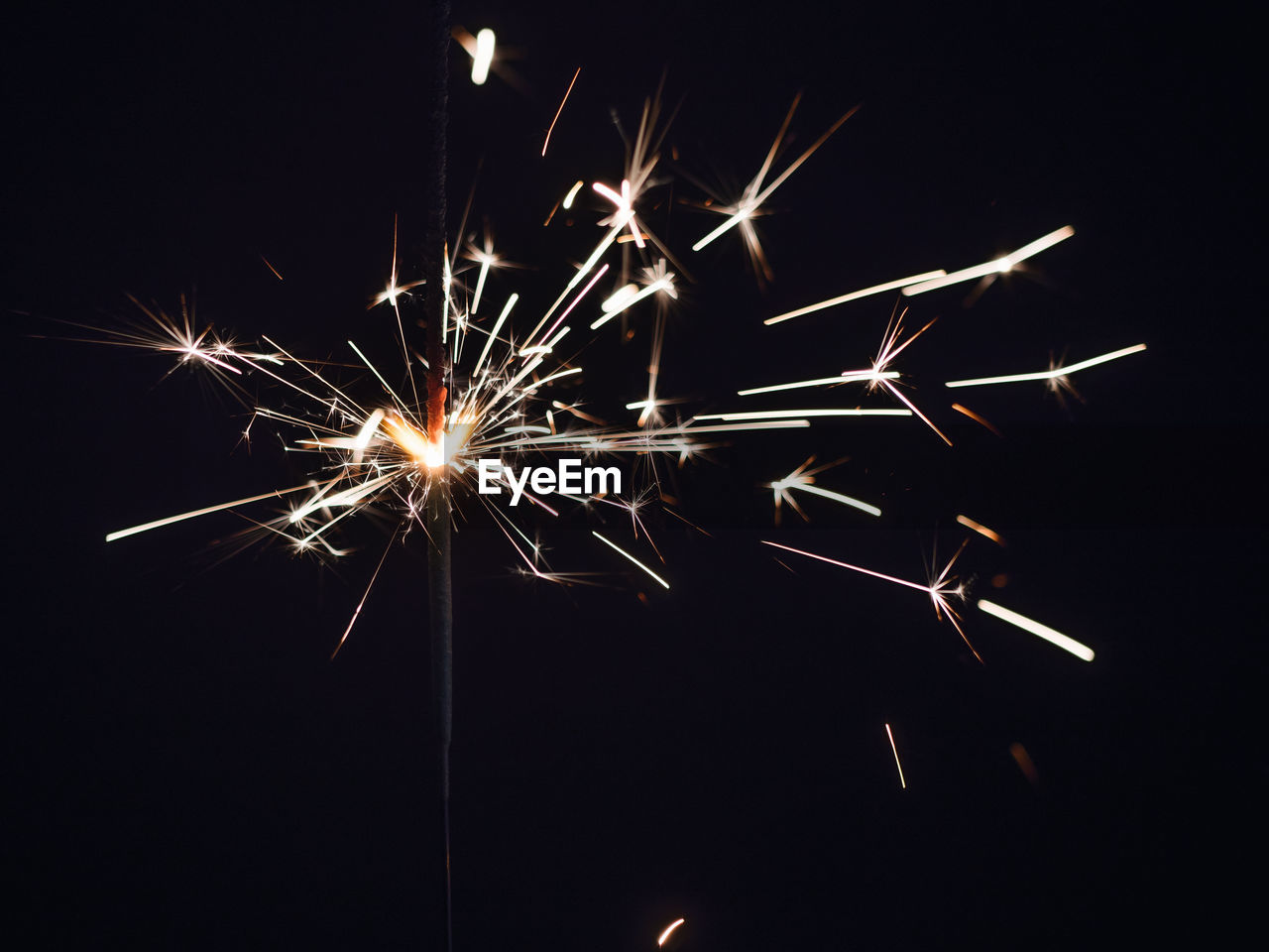 Close-Up Of Burning Sparkler At Night