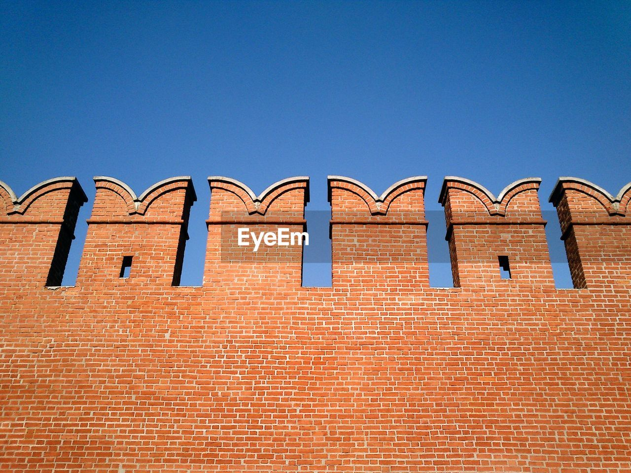 Low angle view of fortified wall