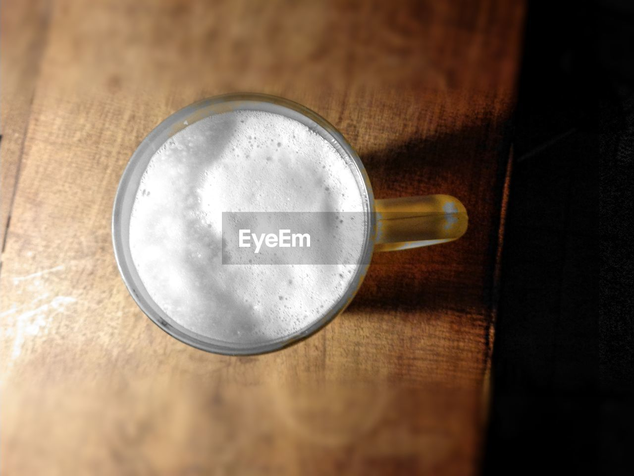 drink, table, food and drink, frothy drink, refreshment, freshness, no people, indoors, froth, close-up, wood - material, beer glass, beer - alcohol, food, alcohol, day
