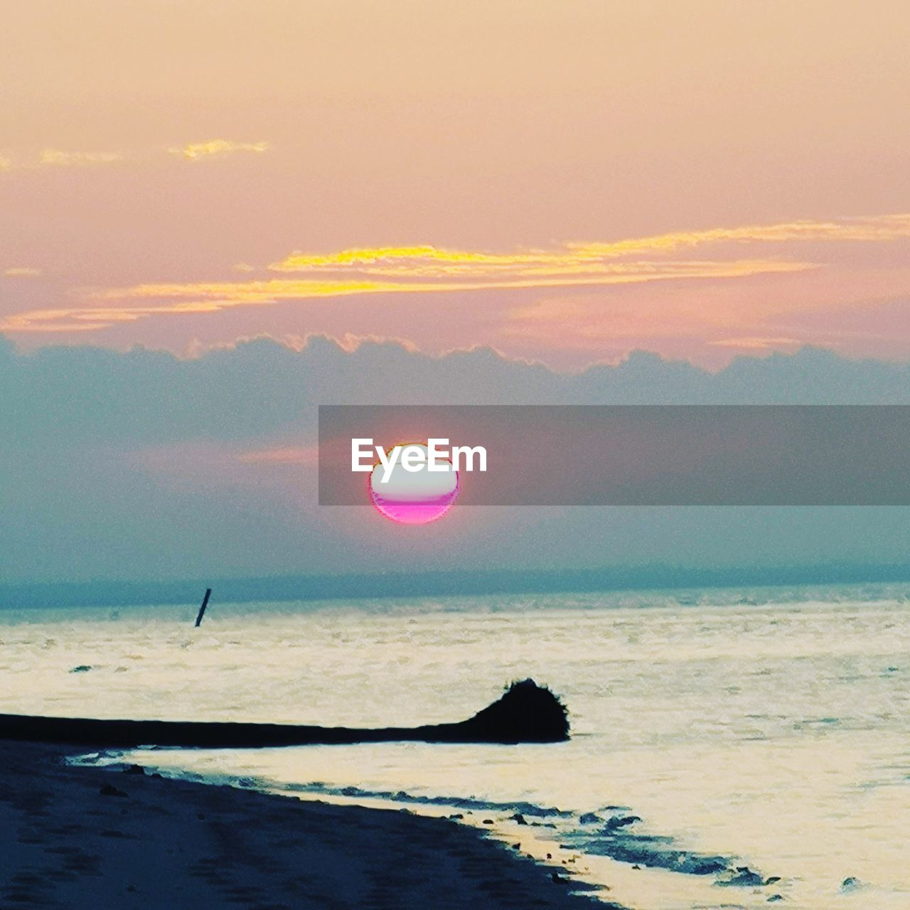 sky, sea, sunset, scenics - nature, beauty in nature, water, sun, cloud - sky, tranquility, tranquil scene, horizon over water, orange color, horizon, nature, idyllic, beach, silhouette, land, no people, outdoors