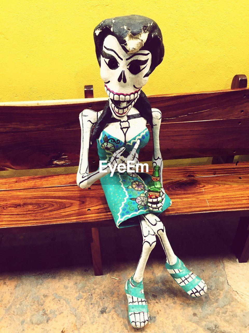 human skeleton, costume, skeleton, human skull, halloween, day, architecture, outdoors, one person