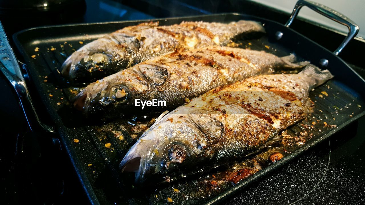 Close-up Of Fried Fish