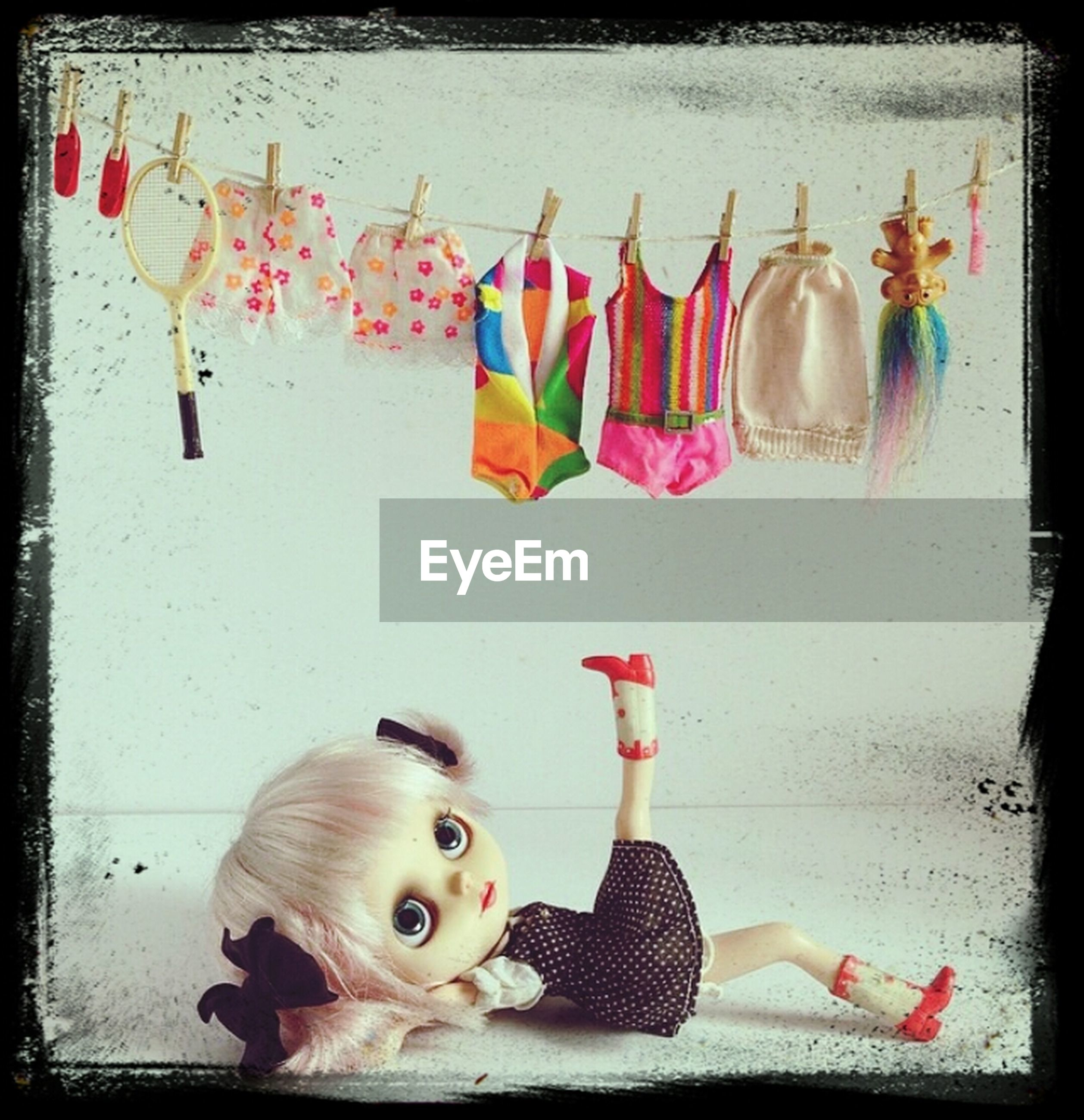 indoors, animal representation, toy, art and craft, still life, art, auto post production filter, creativity, stuffed toy, transfer print, variation, animal themes, no people, close-up, hanging, decoration, table, figurine, large group of objects, bird