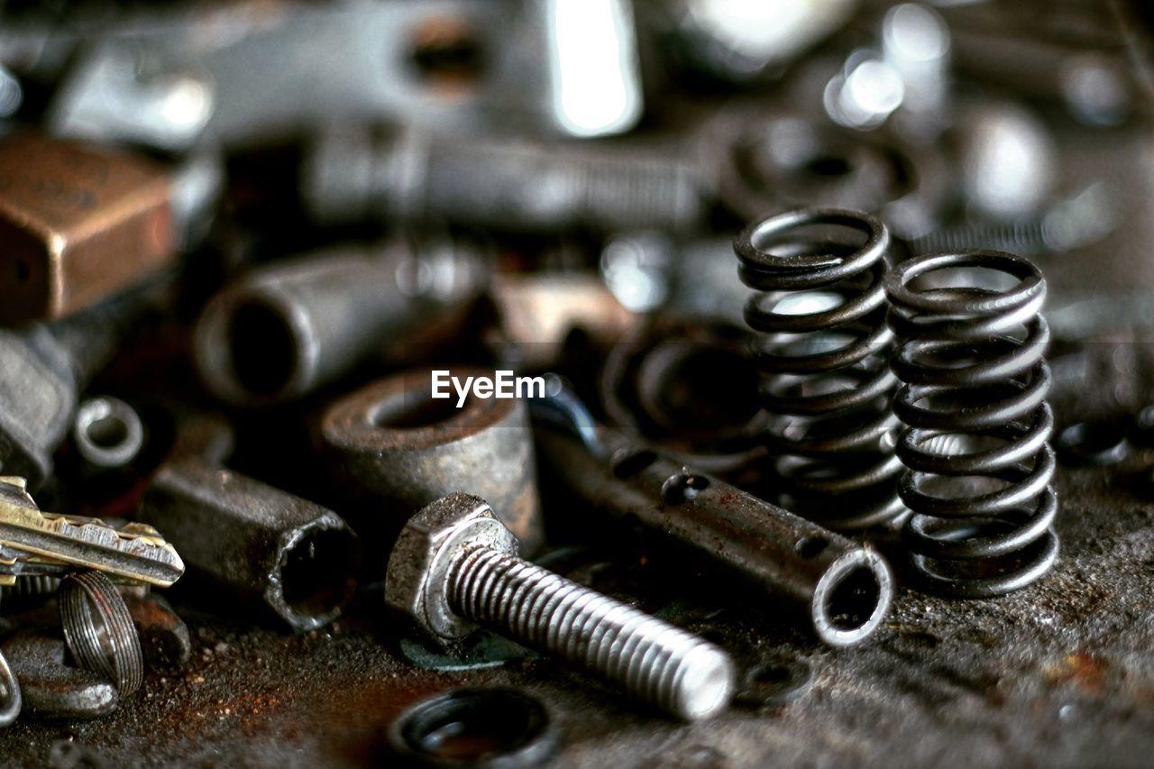 Close-Up Of Metal Equipment