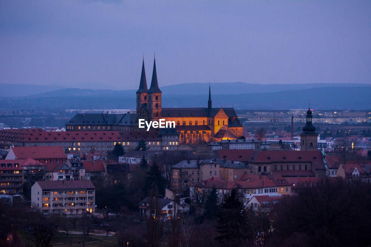 Michaelsberg abbey against sky