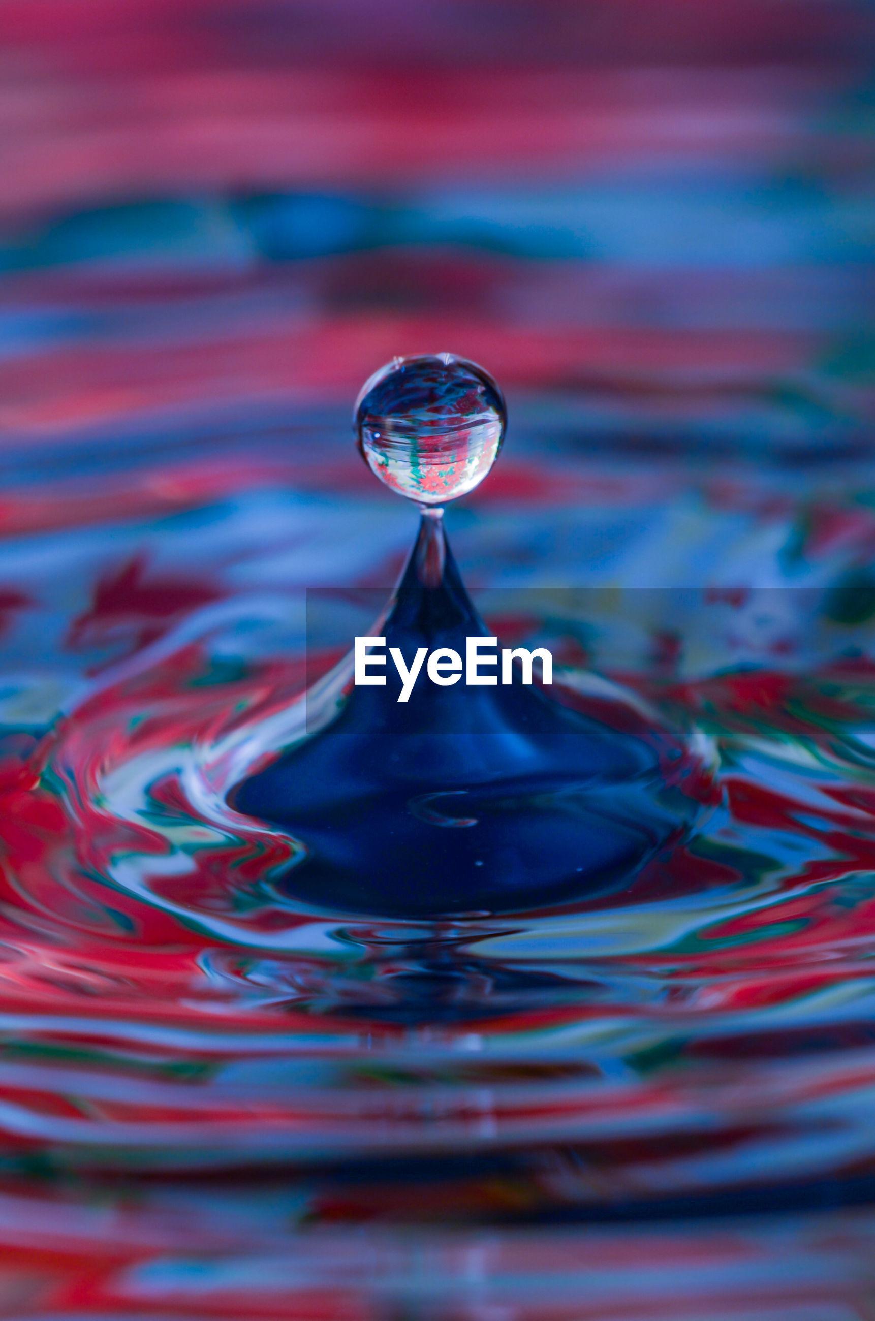 CLOSE-UP OF SPLASHING WATER