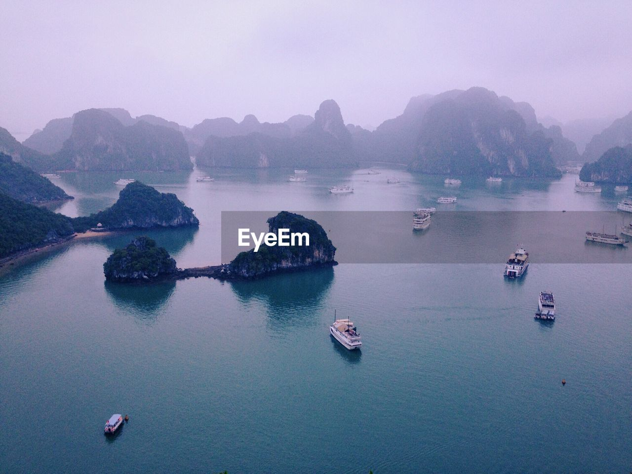 Scenic View Of Ha Long Bay Against Sky