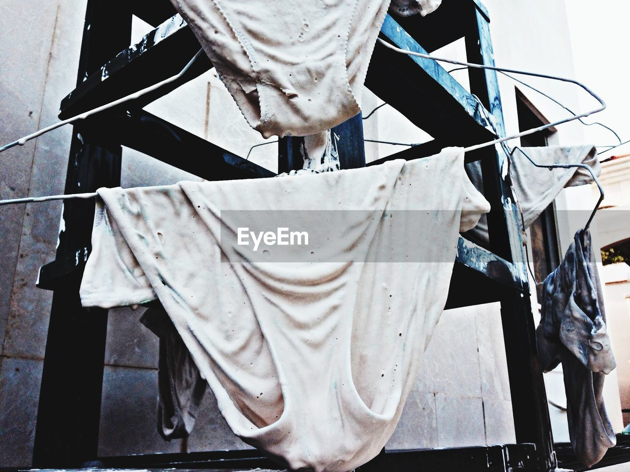 drying, laundry, clothing, no people, textile, outdoors, day, hanging, close-up