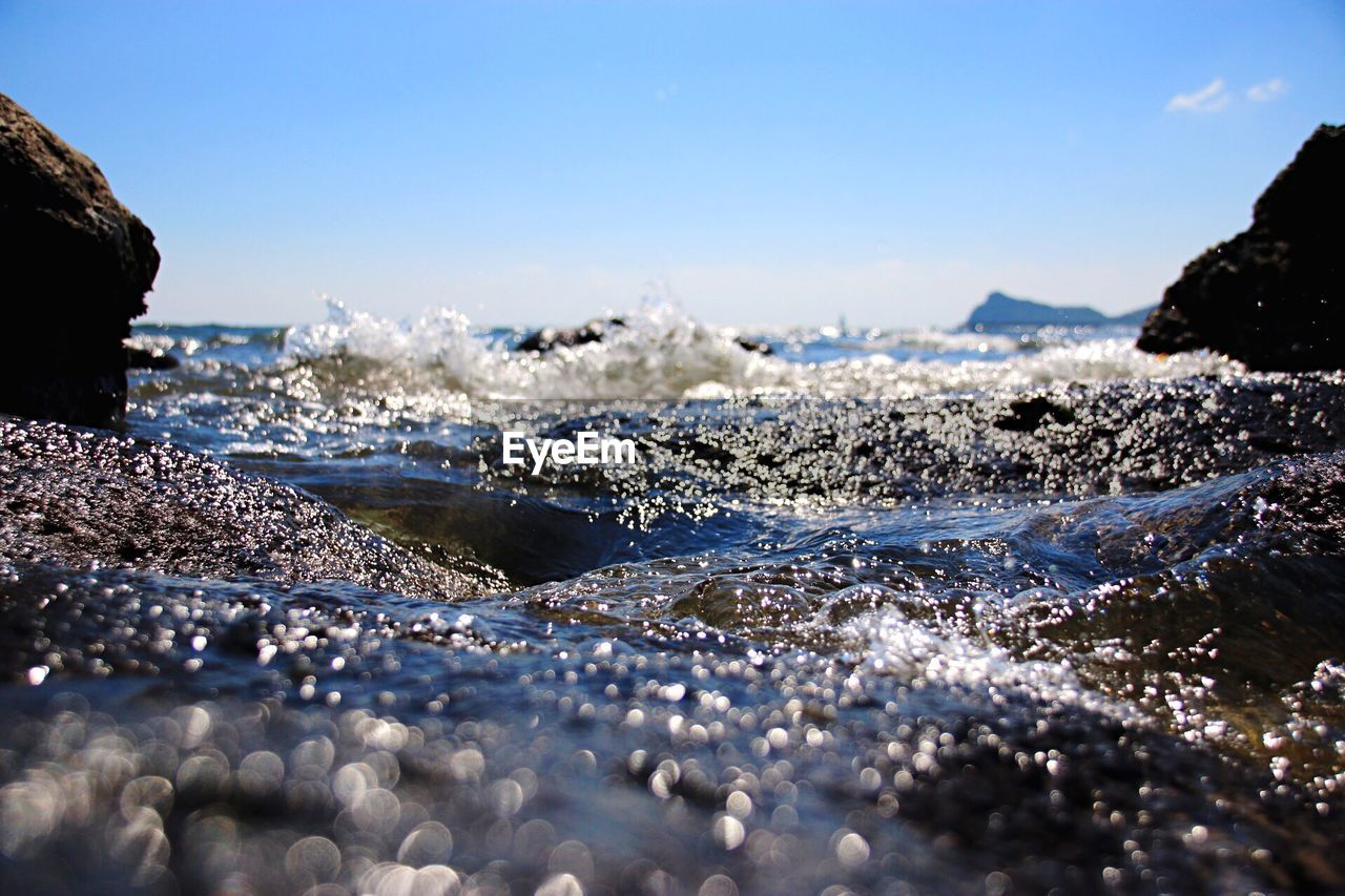 water, motion, nature, sea, splashing, wave, beauty in nature, outdoors, day, no people, scenics, sky, power in nature, force, close-up