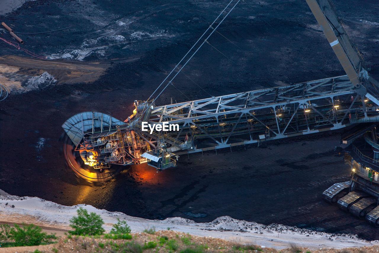 Mining Machinery At Coal Mine