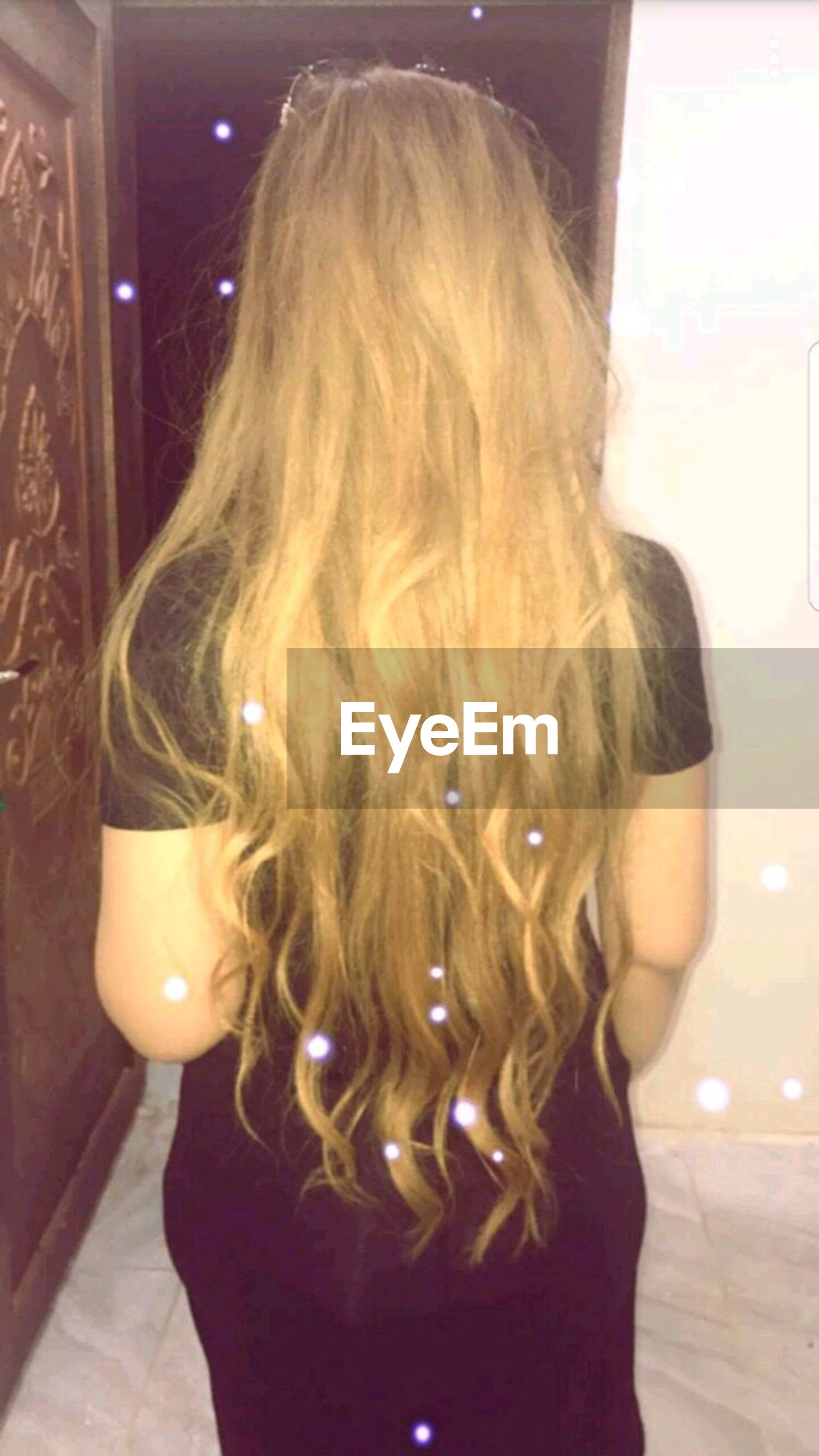 one person, real people, rear view, standing, long hair, indoors, fashion, women, lifestyles, leisure activity, human, day, young adult, people