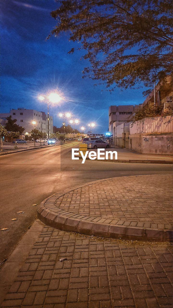 VIEW OF ILLUMINATED CITY STREET