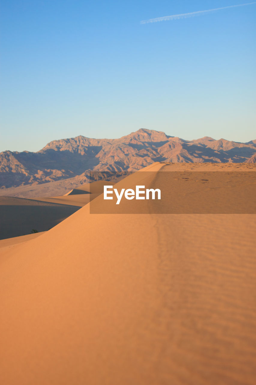Scenic View Of Sand Dunes At Death Valley