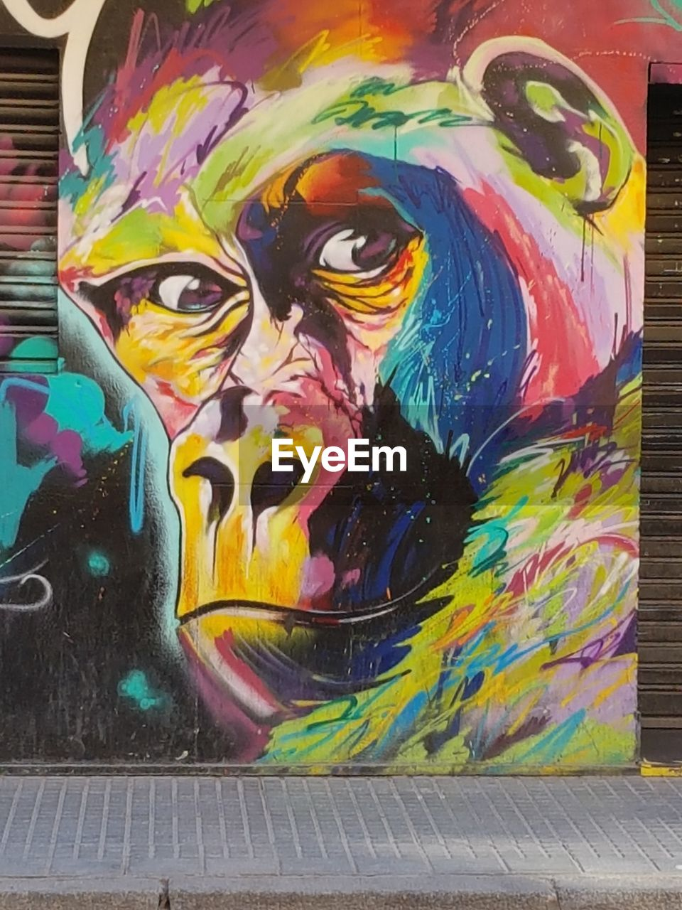 art and craft, multi colored, creativity, graffiti, representation, paint, no people, craft, human representation, drawing - art product, street art, close-up, wall - building feature, paintings, female likeness, architecture, day, pattern, indoors, mural