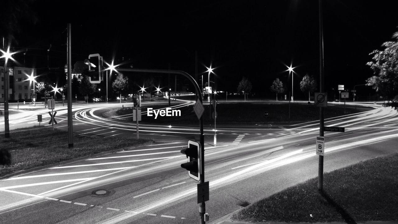 City roundabout by night