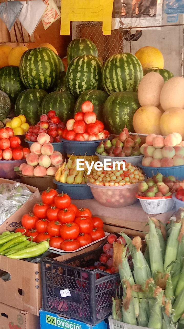 food, market, retail, for sale, variation, choice, food and drink, vegetable, healthy eating, abundance, market stall, freshness, fruit, banana, large group of objects, no people, price tag, day, outdoors