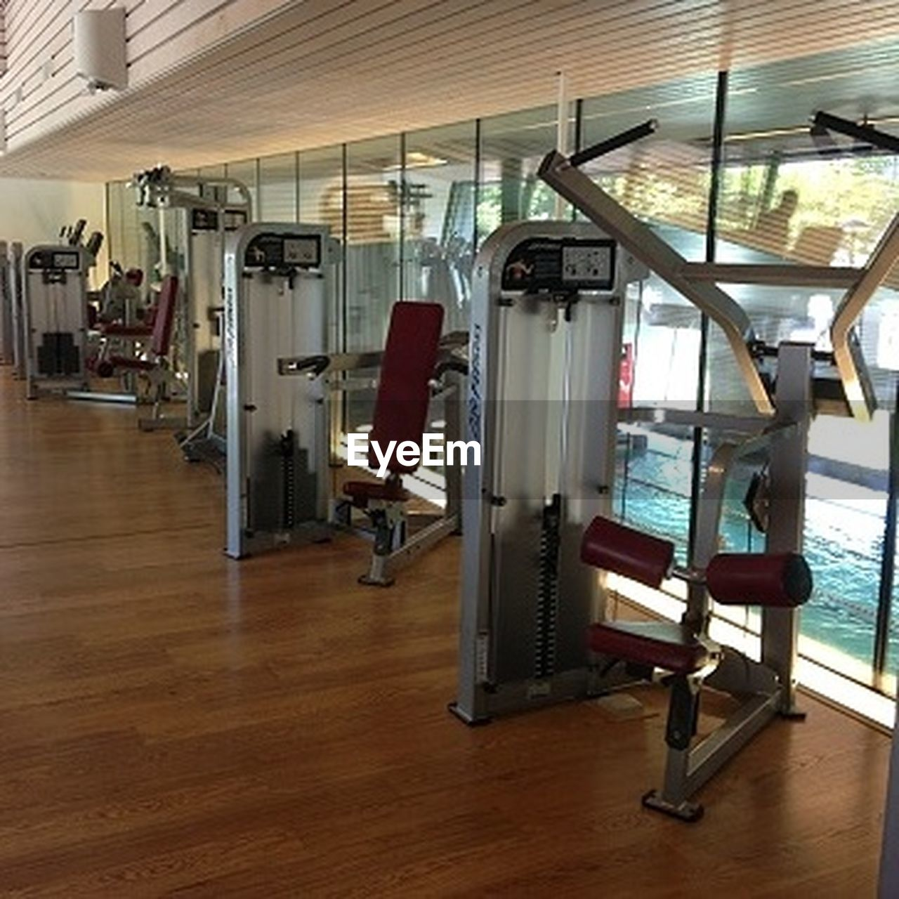 gym, exercising, indoors, healthy lifestyle, exercise equipment, health club, sport, no people, day
