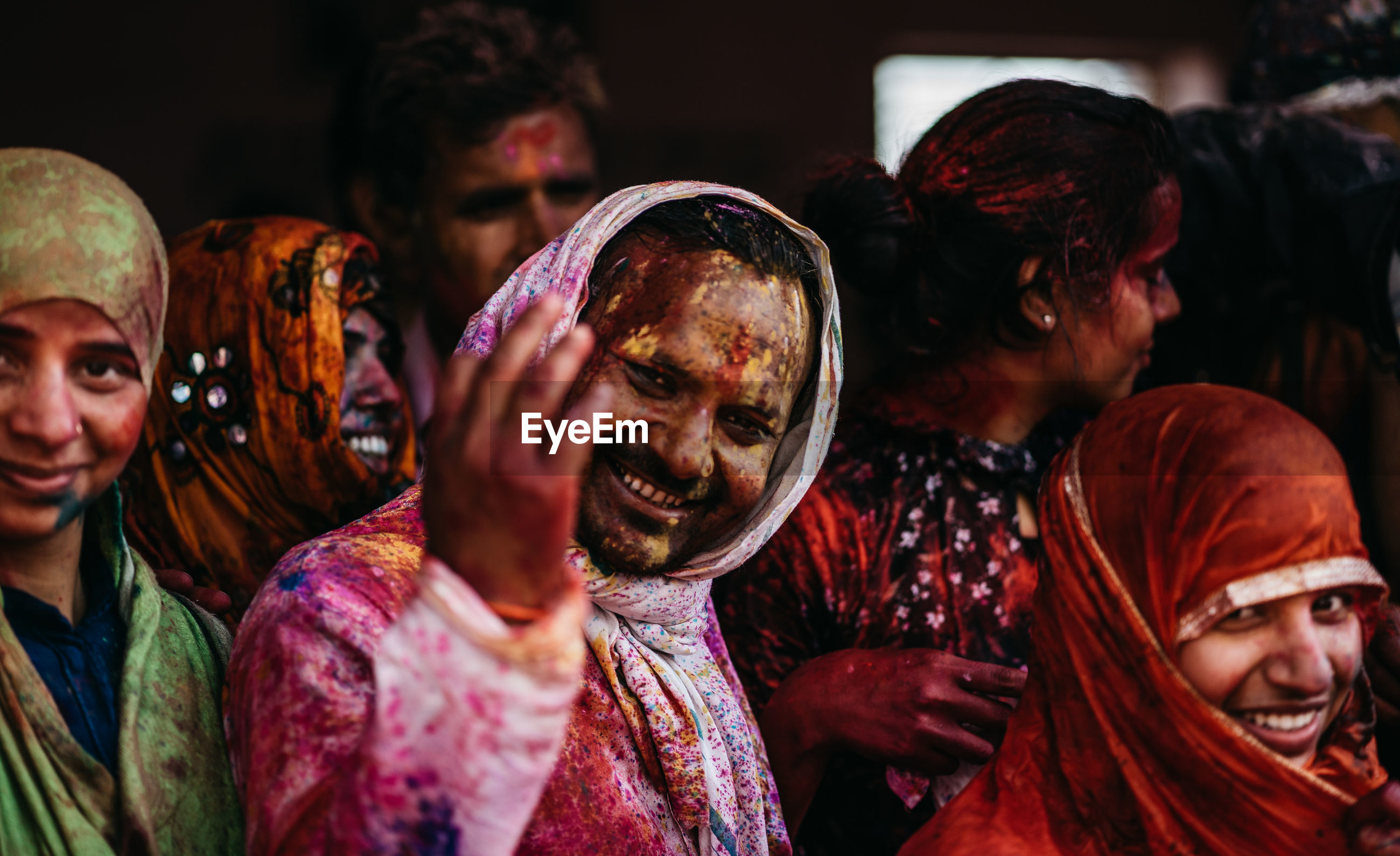 GROUP OF PEOPLE AT TRADITIONAL CLOTHING