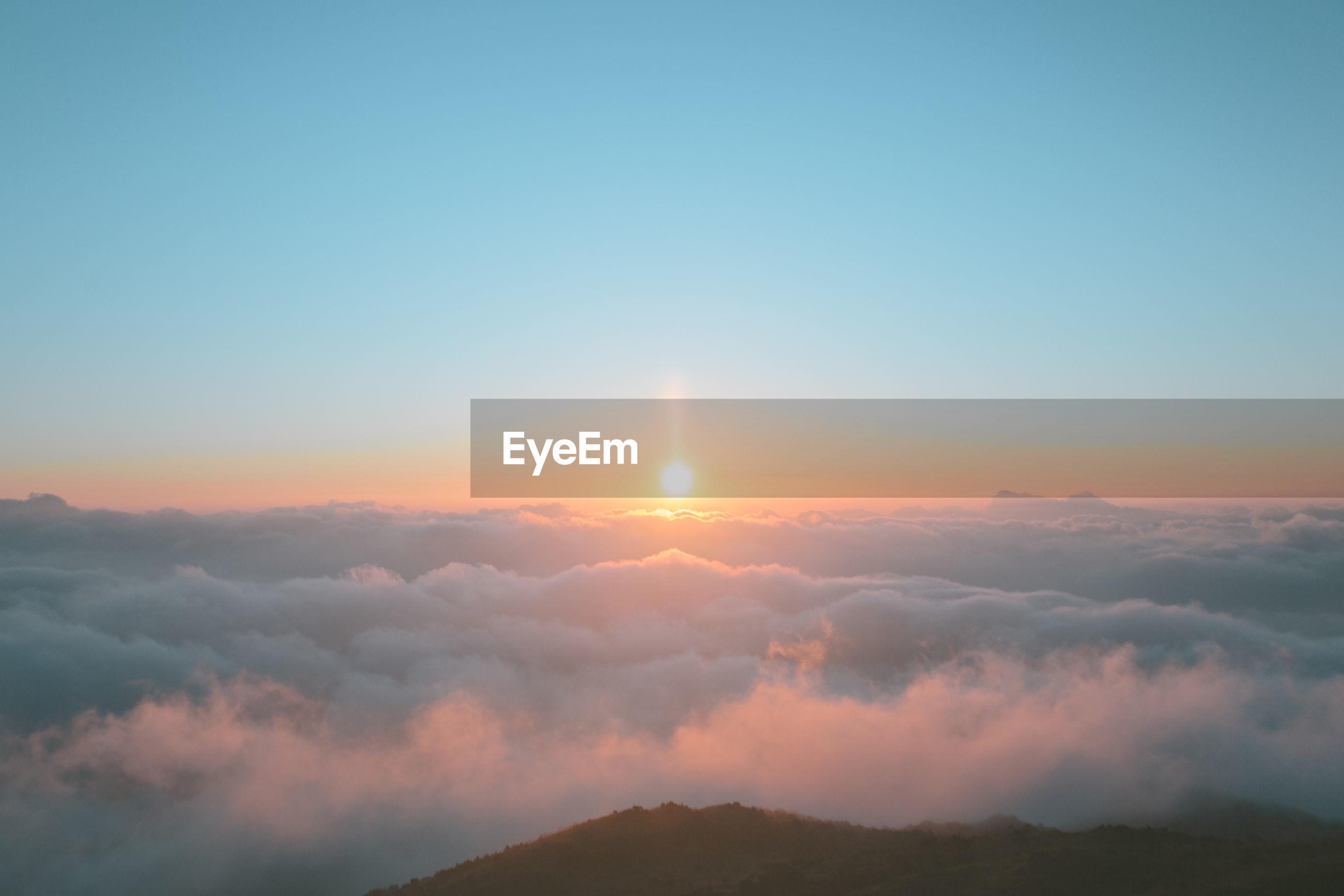 Scenic shot of the sky