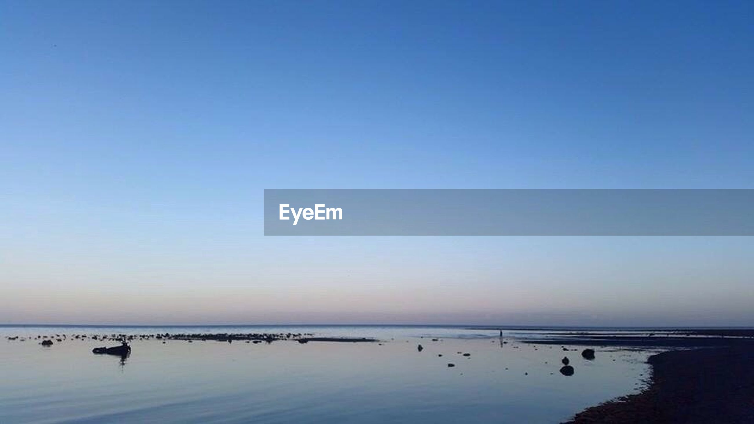 water, clear sky, sea, horizon over water, tranquil scene, tranquility, scenics, beauty in nature, blue, nature, idyllic, calm, outdoors, sky, ocean, remote, non-urban scene, seascape, no people