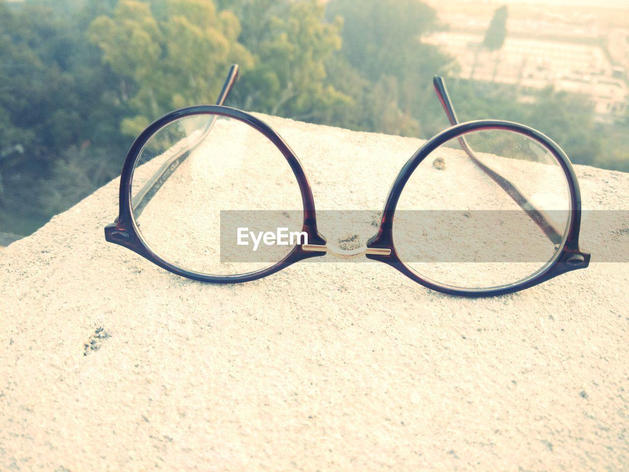 eyeglasses, vision, eyewear, glasses, no people, day, outdoors, sand, nature, focus on foreground, eyesight, close-up