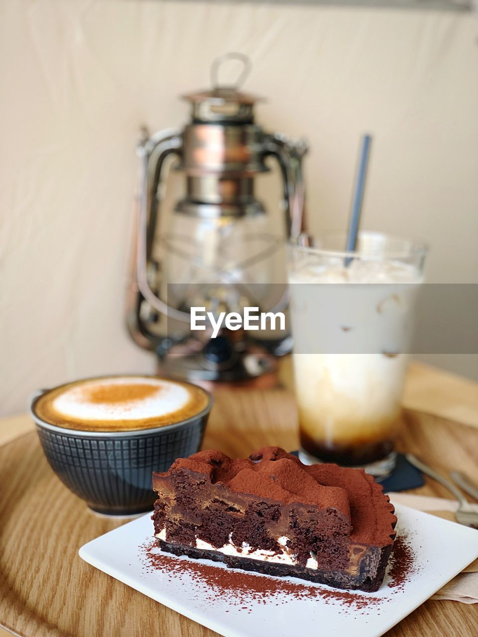 food and drink, sweet food, dessert, food, sweet, indulgence, cake, freshness, table, baked, temptation, ready-to-eat, still life, indoors, refreshment, close-up, no people, drink, kitchen utensil, unhealthy eating, glass, chocolate cake
