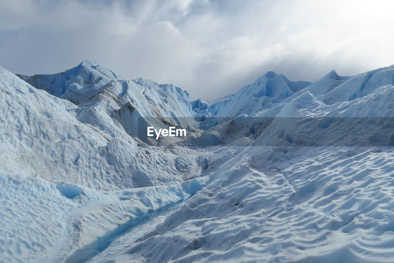 Scenic View Of Moreno Glacier At Los Glaciares National Park