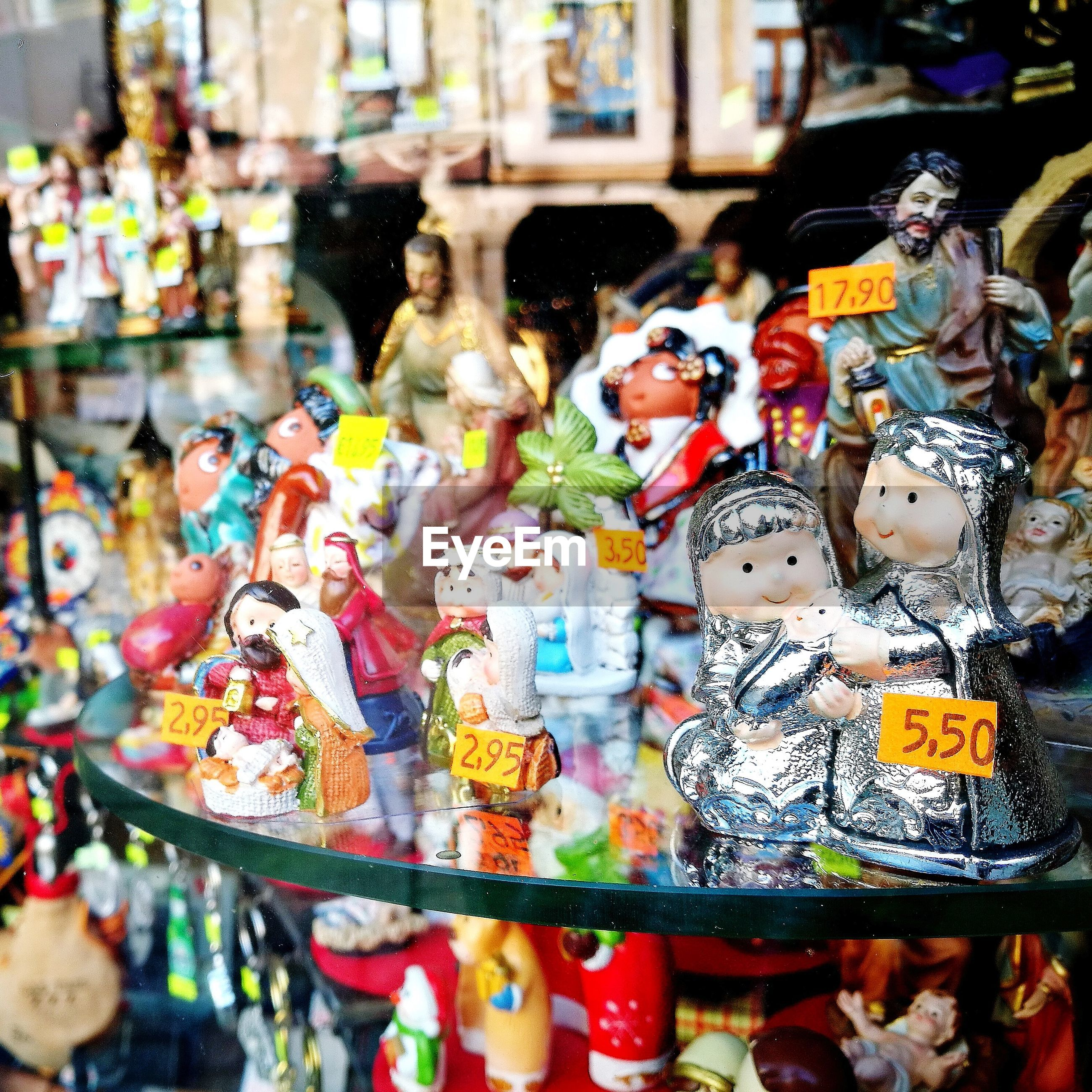 Various decorations for sale in store