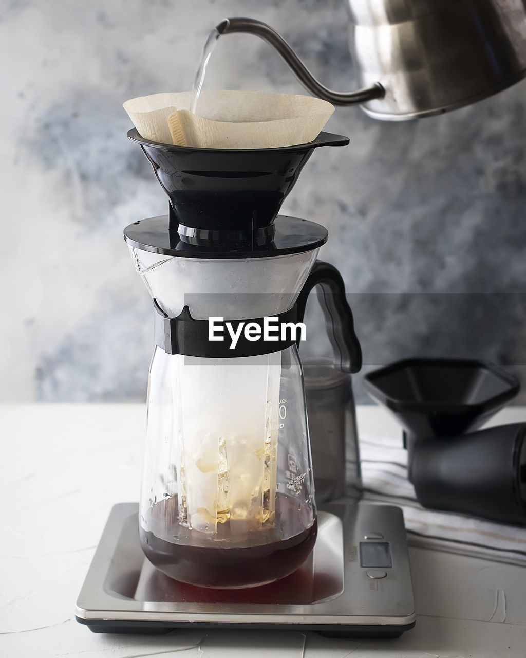 food and drink, drink, refreshment, household equipment, coffee, indoors, appliance, kitchen utensil, close-up, preparation, no people, table, coffee - drink, kitchen, still life, glass - material, coffee maker, food, freshness, glass, coffee pot