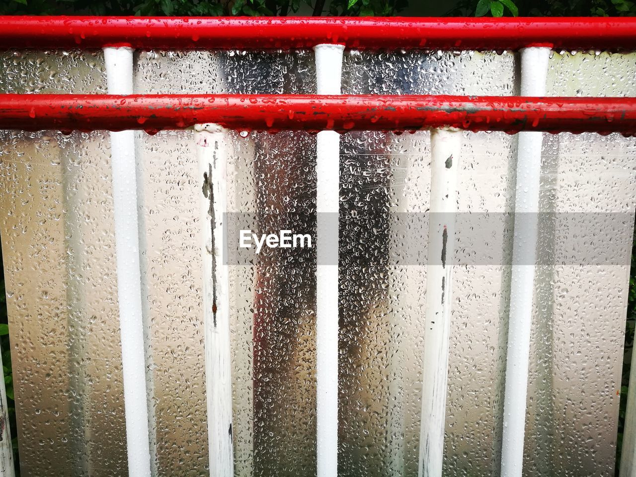 red, backgrounds, full frame, metal, close-up, water, day, window, no people, textured, outdoors