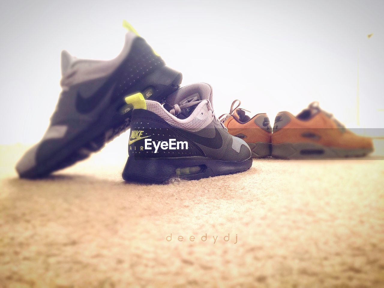 shoe, pair, close-up, indoors, real people, day