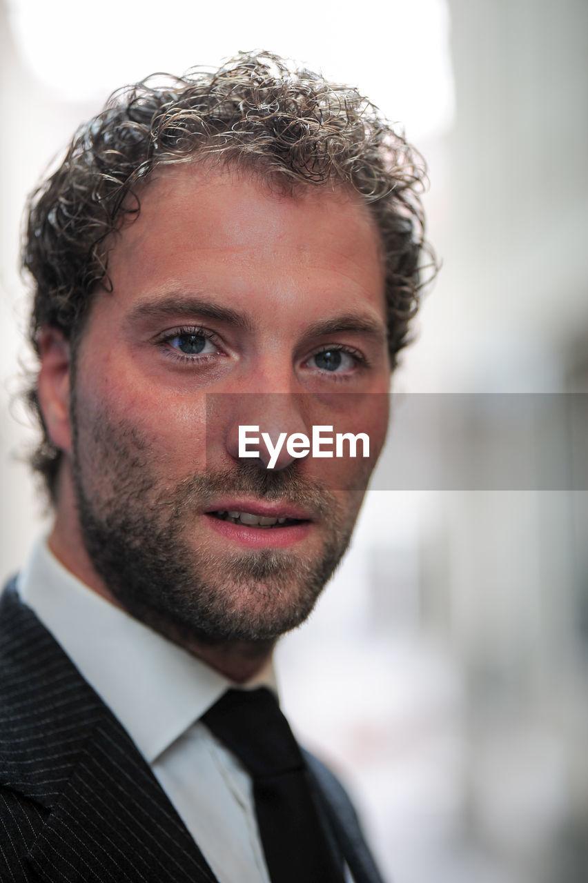 Portrait of bearded businessman