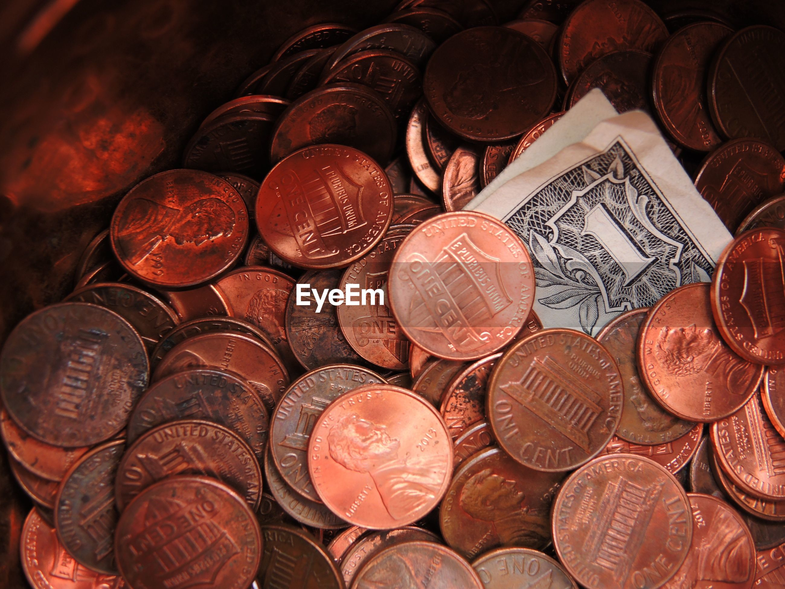 Full frame shot of currencies