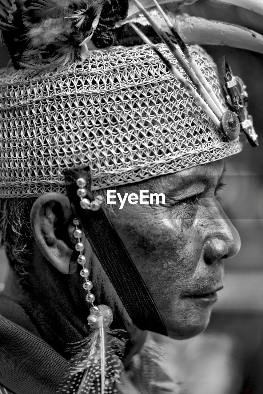 Profile View Of Woman Wearing Headdress