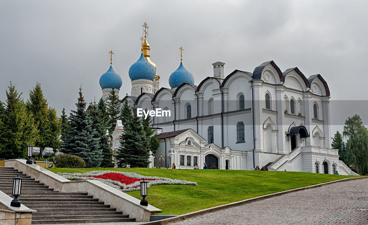 Low Angle View Of Cathedral At Kazan Kremlin Against Sky