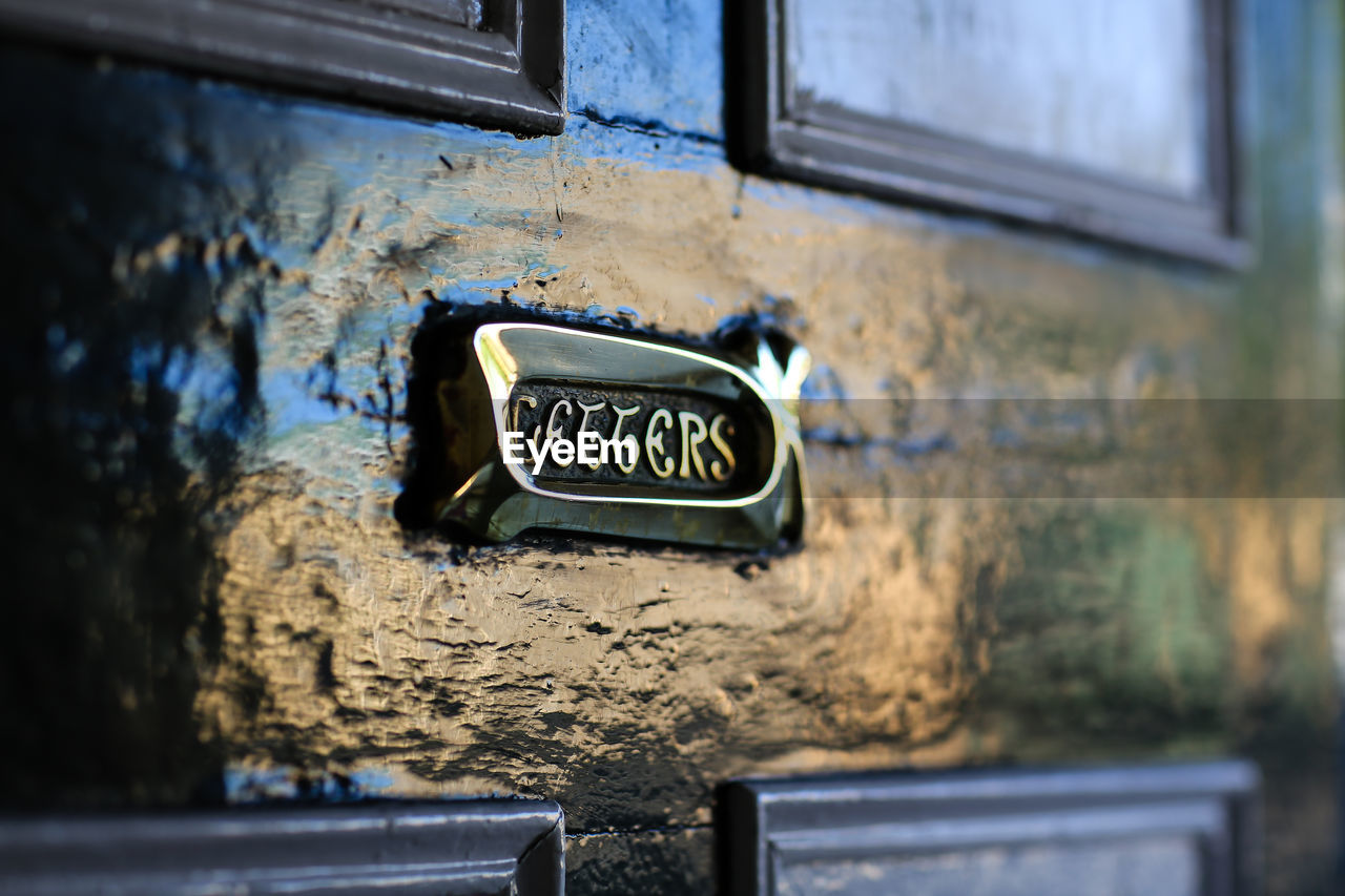 Nameplate On Front Door