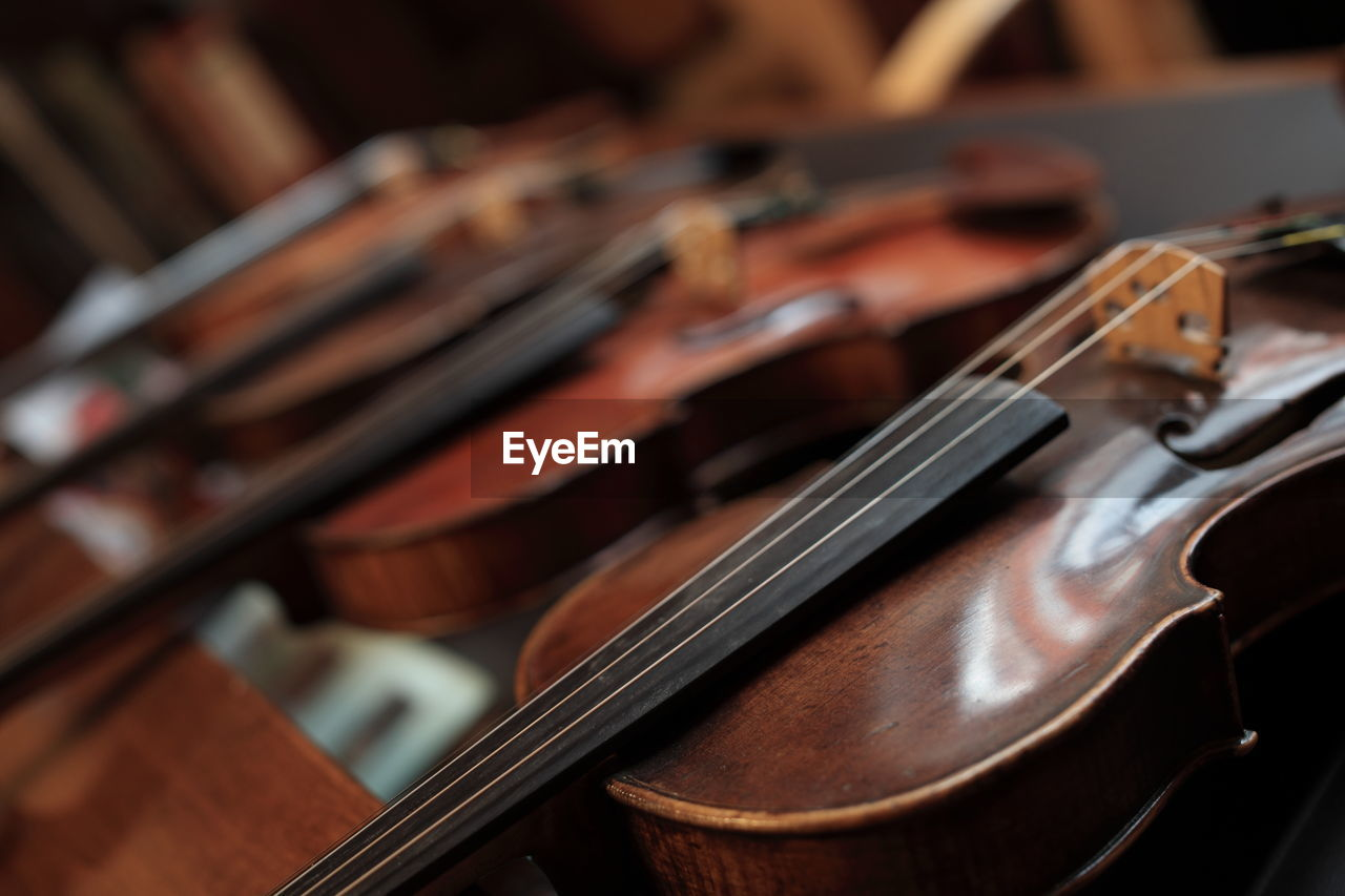Close-Up Of Violins