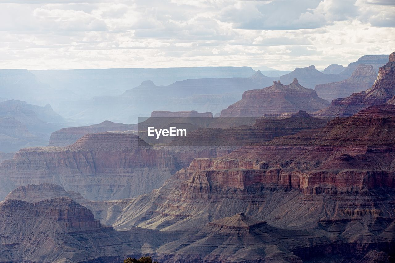 Scenic view of grand canyon national park against sky