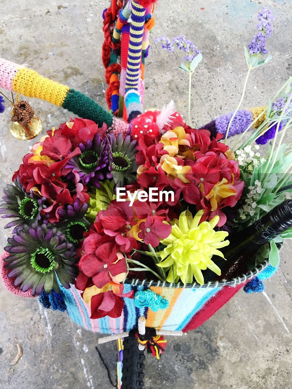 flower, flowering plant, multi colored, vulnerability, plant, fragility, freshness, nature, day, beauty in nature, flower arrangement, bouquet, close-up, high angle view, outdoors, variation, choice, decoration, flower head, no people