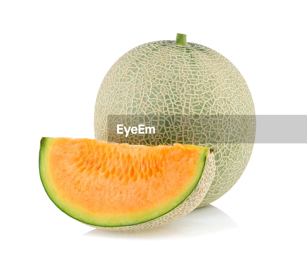 fruit, healthy eating, studio shot, white background, wellbeing, food, slice, food and drink, still life, indoors, melon, freshness, cut out, close-up, cantaloupe, no people, single object, cross section, green color, watermelon, ripe