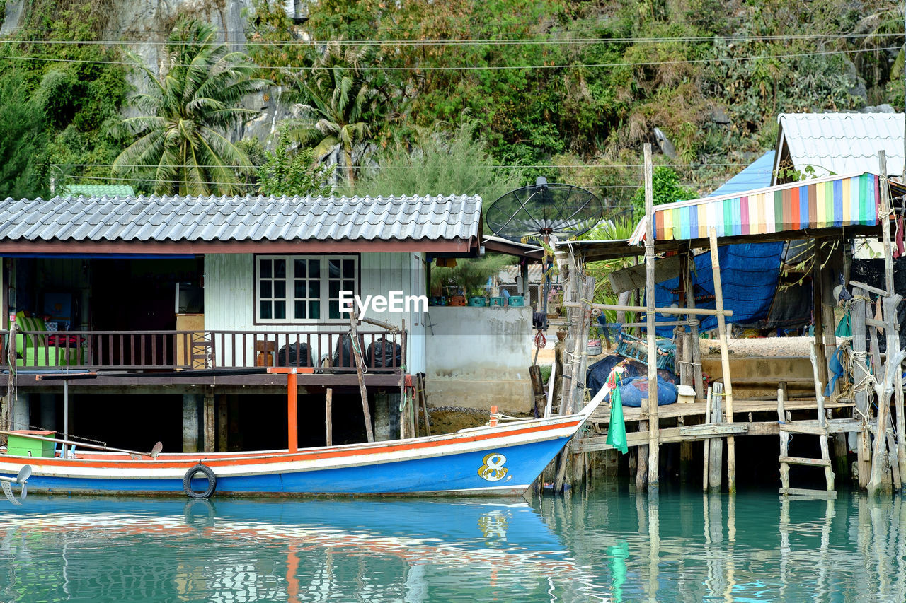 architecture, water, building exterior, nautical vessel, built structure, day, outdoors, no people, moored, nature