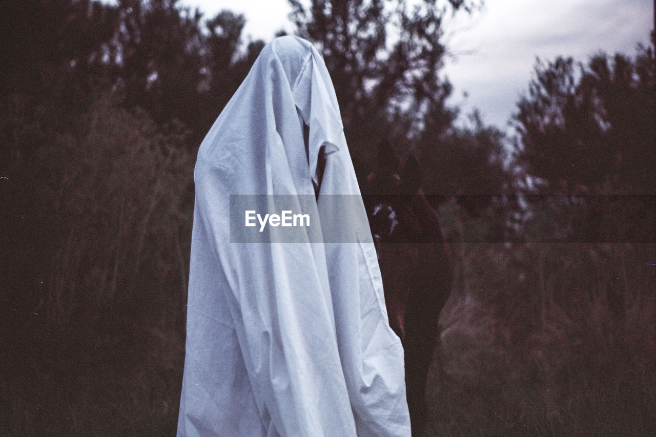 Ghost With Horse Outdoors