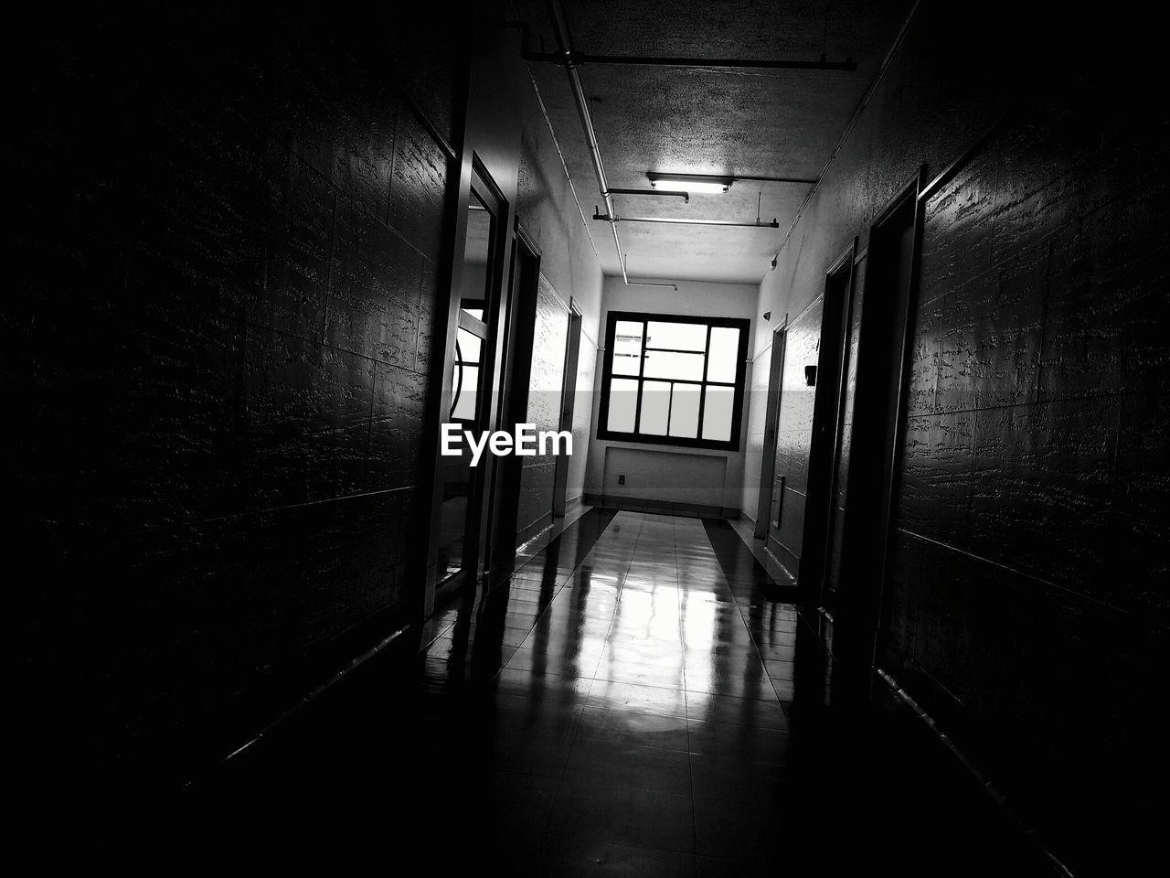corridor, indoors, empty, flooring, door, the way forward, no people, hospital, architecture, daylight, day