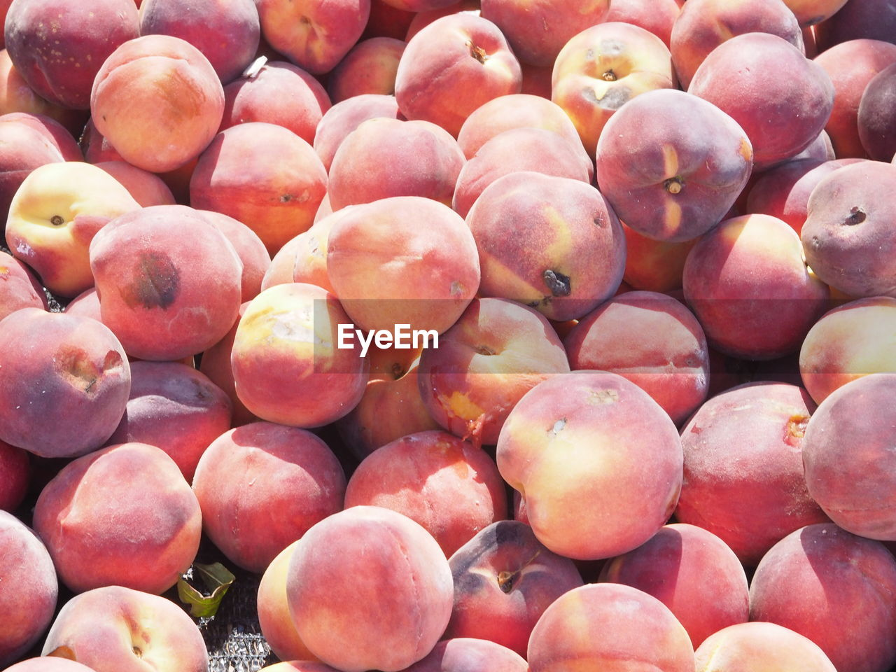 Close-up of peach for sale