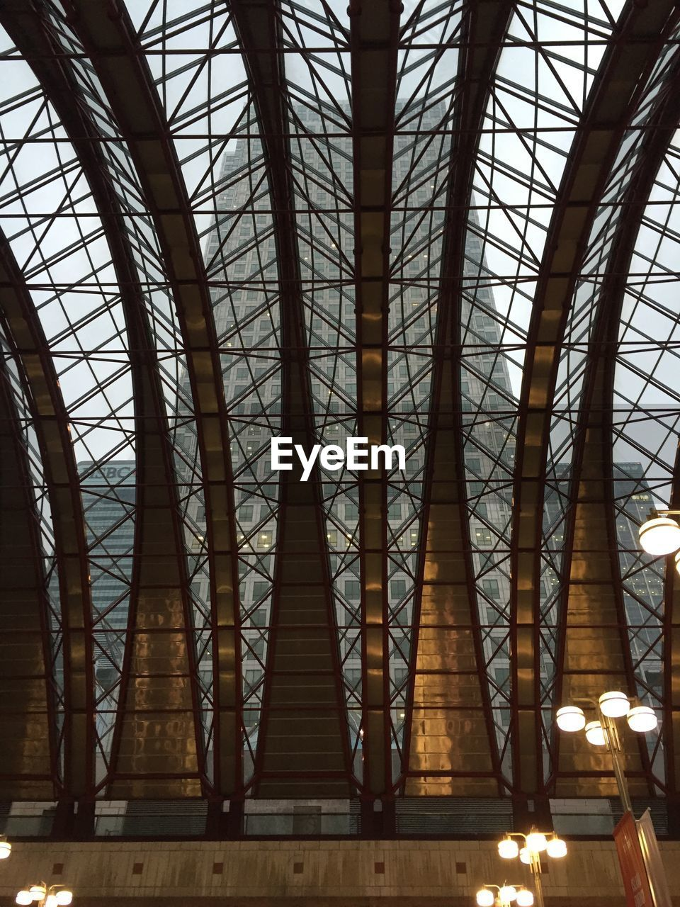 indoors, low angle view, no people, built structure, architecture, roof, day, illuminated, close-up